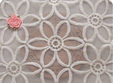 Wedding Dress Lace Fabrics Organza Fbaric Embroidered Flowers Lace Fbaric for Homedecor Supplies(China)