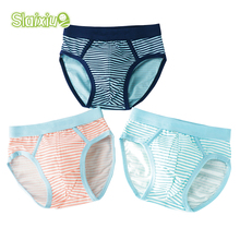 SLAIXIU 3 Pcs/Lot Striped Kids Briefs for Boy Underwear Soft Organic Cotton Baby Underpants Childrens Shorts Panties For 2-10Y