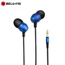 Super Deep Stereo Earphones Nylon Wired Heads In-ear Metal Earphone Original AWEI ES Q8 for Phone MP3 Players 3.5mm Jack Headset