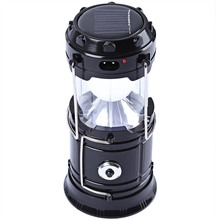 6-LED Rechargeable Solar Camping Lantern LED Torch Flashlight Cycling Tent Lights for Outdoor Lighting Hiking