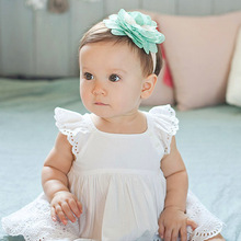 Baby Hair Bows Girls Headwear Retail new fashion Hair Bands Lace flower headbands Children Flower Hair Accessories H174