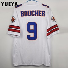 "YUEYA ""The Waterboy"" Movie Jerseys #9 Bobby Boucher American Football Jersey Mens Cheap White S-3XL"