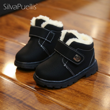 SilvaPuellis 2017 Baby Boots Season Fashion Non-slip Girls Snow Boot Children Comfortable Warm Rubber Flat Boots(China)