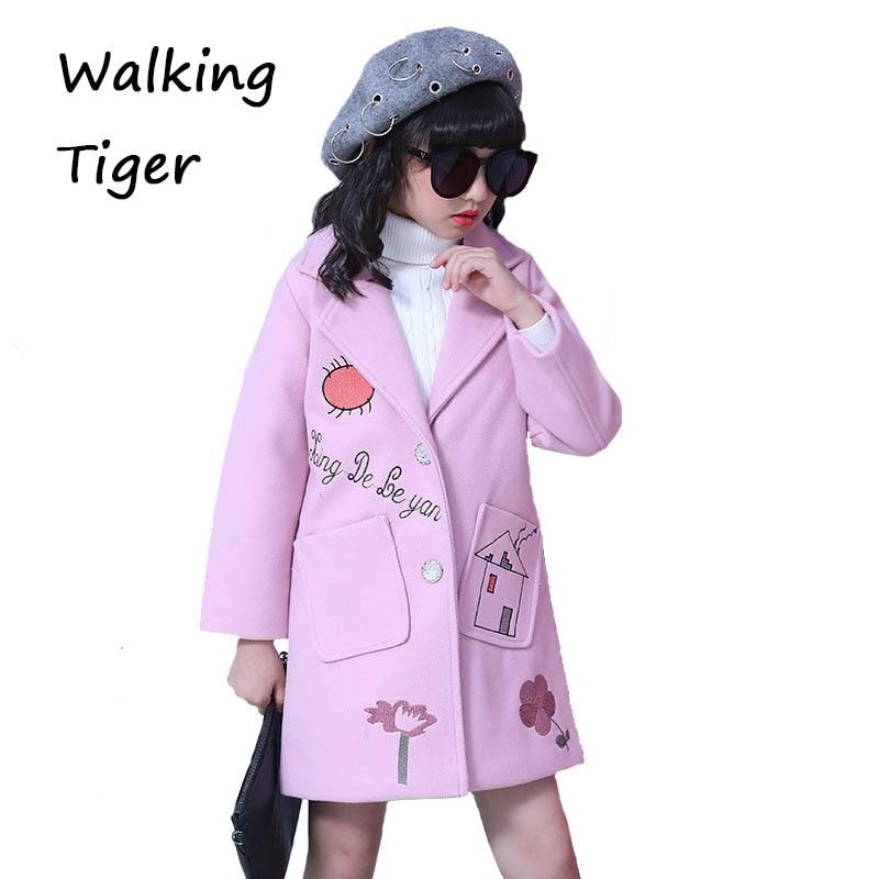 girls clothes woollen coat girl winter coats clothing kids boutique outfits 2017 children overcoat<br>
