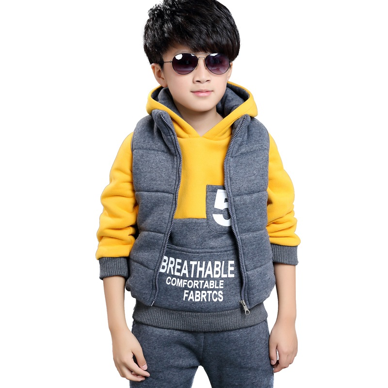 HOBIBEAR boys cotton clothing set kids warm active casual fashion 3pcs set hooded cool clothing TW1105<br><br>Aliexpress