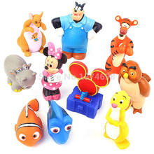 Finding Dory Nemo Minnie Tigger Yellow Rabbit Owl Kanga and Roo Baby Bath Toy Set of 10 Squeeze Figure Toys Cute Children Gifts