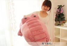 huge plush pink crocodile toy stuffed cartoon Chinese alligator pillow birthday gift about 170cm