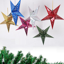 Fashion Xmas String Hanging Star New Year Party Decoration Christmas tree Ornament Home Decor(China)