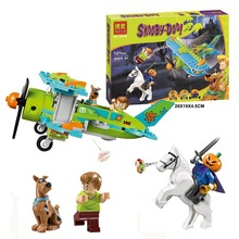 127pcs Scooby Doo Dog Mystery Plane Adventures Building Kit Toys Shaggy Pumpkin knight Block 10429
