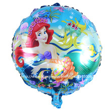 50pcs/lot balao Mermaid Ariel balloons princess mylar balloon ariel little mermaid foil girl ballon decoration helio para globos