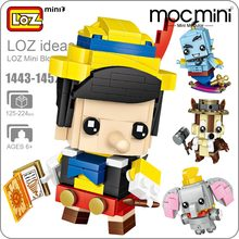LOZ Mini Blocks Figure Cartoon Squirrel Mermaid Bear Princess Robot Cowboy Elephant Building Bricks Assembly Toys Gift 1443-1452(China)