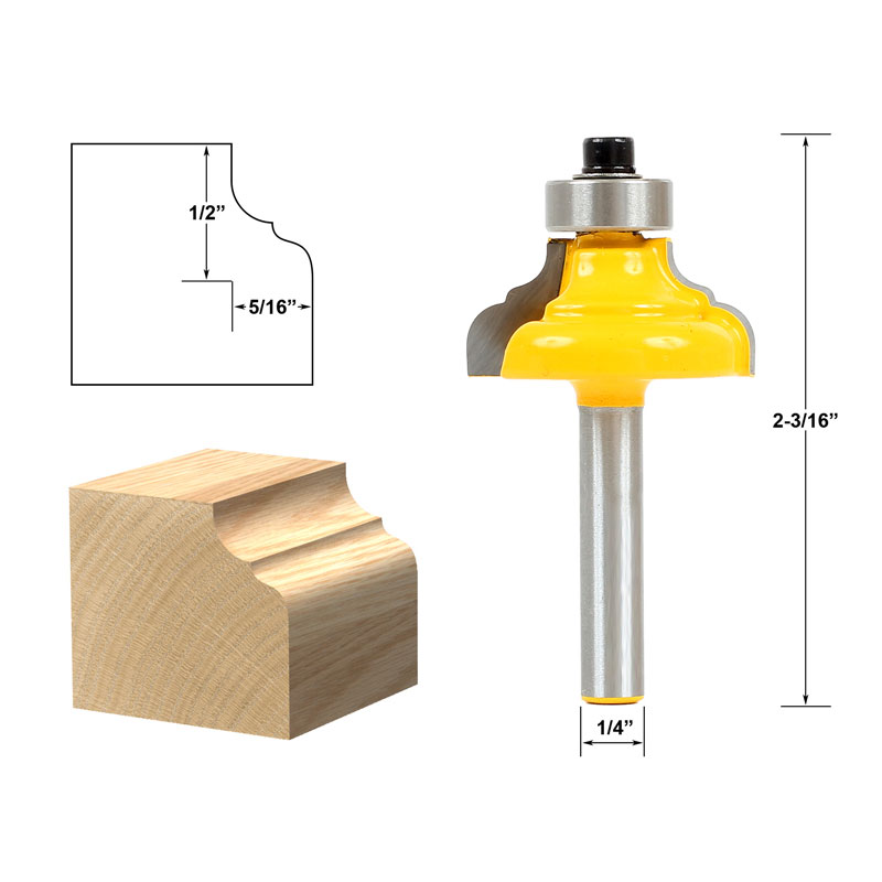 1pcs Classical Ogee Edging and Molding Router Bit Small - 1/4 Shank<br><br>Aliexpress