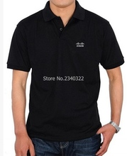 The new men's short sleeve lapel IT people-oriented Cisco logo POLO shirts