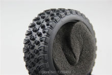 4pcs RC Model Car 1/10 Rubber Tires Tyre Rally Tire fits for 1:10 Touring Car 1/10 Tire 21104(China)