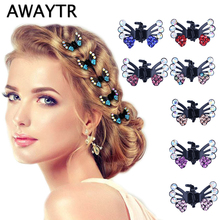 Buy AWAYTR 6 Pcs/Lot Hair Clips Women Fashion Girls Hair Accessories 2018 Kids Crystal Butterfly Pins Hair Claws for $1.29 in AliExpress store