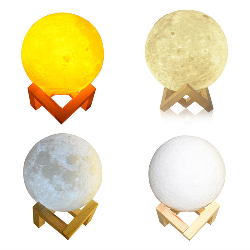 Chiclits LED Moon Lamp 3D USB Magical Moon Night Light 10CM Table Touch Sensor Color Changing Home Bedroom Decoraction Child Kid Girl Gift (13)