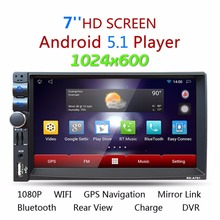 "Android 5.1.1 Quad Core Car Media Player 7"" Touch Screen Support Bluetooth GPS WIFI FM AM USB Steering Wheel Control Mirror Link"