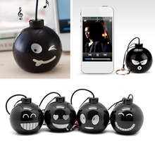 Fashion Audio Dock 3.5mm Jack Portable Stereo Mini Speaker Bomb  with Various expressions for iPhone Xiaomi Mobile Phone MP3 MP4