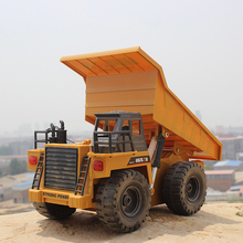 High Quality RC Truck 1:18 2.4G 6CH RC Alloy Dump Truck Auto Demonstration Function Remote Control Toys RC Trucks Gifts for Kids(China)