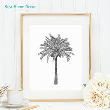 Antique Palm Tree Print Botanical Print Illustration Art Print Poster Wall Decor Wall Art Palm Tree Without Frame AP026(China)