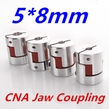 4 pcs/lot 5 mm to 8 mm CNC Motor Jaw Shaft Coupler Flexible Coupling Spider Flexible 5*8mm(China)