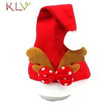 Newly Stylish Fashion Lovely Christmas Elk Red Hat Cozy Soft Warm Children Santa Headgear Skullies Snd Beanies No17 Beautiful