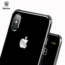 Baseus Soft TPU Anti Knock Phone Case For iPhone X Ultra Thin Transparent Silicone Case For iPhone X Cases Phone Cover Shell(China)