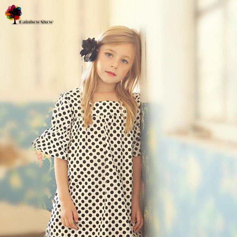 Mandys Wish Brand New Quality Children  Clothing Girls Spring Summer  Europe and America Dots Elegant Cotton Dress Kids Dress<br><br>Aliexpress