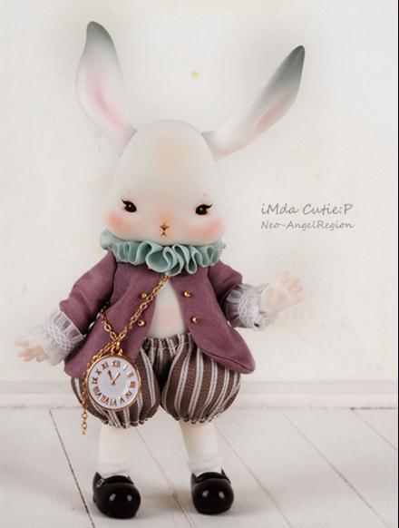 flash sale!free shipping!free body makeup&amp;eyes!top quality 1/12 bjd  baby doll fancy pet time rabbit soom imda Tokki animal toy<br><br>Aliexpress