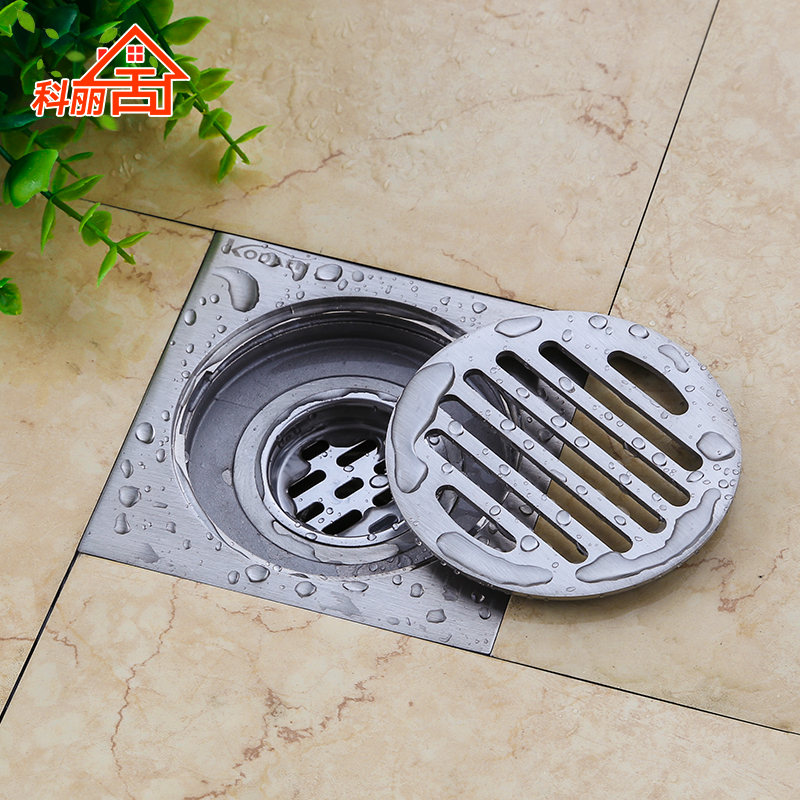 4 inch square stainless steel Floor Waste Grates Bathroom Shower Drain Floor Drain<br><br>Aliexpress