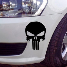 car styling 9.5*14CM PUNISHER Skull Pattern Film Classic Car Stickers For Motorcycle Car Decals For ford renault opel bmw lada