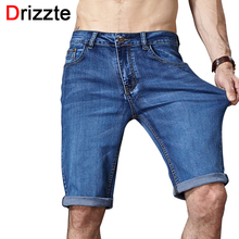 Drizzte Summer Men's Shorts Stretch Casual Lightweight Blue Denim Jeans Short Bermuda Size 33 34 35 36 38 40 42 Shorts(China)