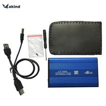 2.5 Inch USB2.0 SATA External HDD Case Mobile Hard Disk Box Aluminum Alloy Shell Enclosure Adapter for PC Laptop Notebook