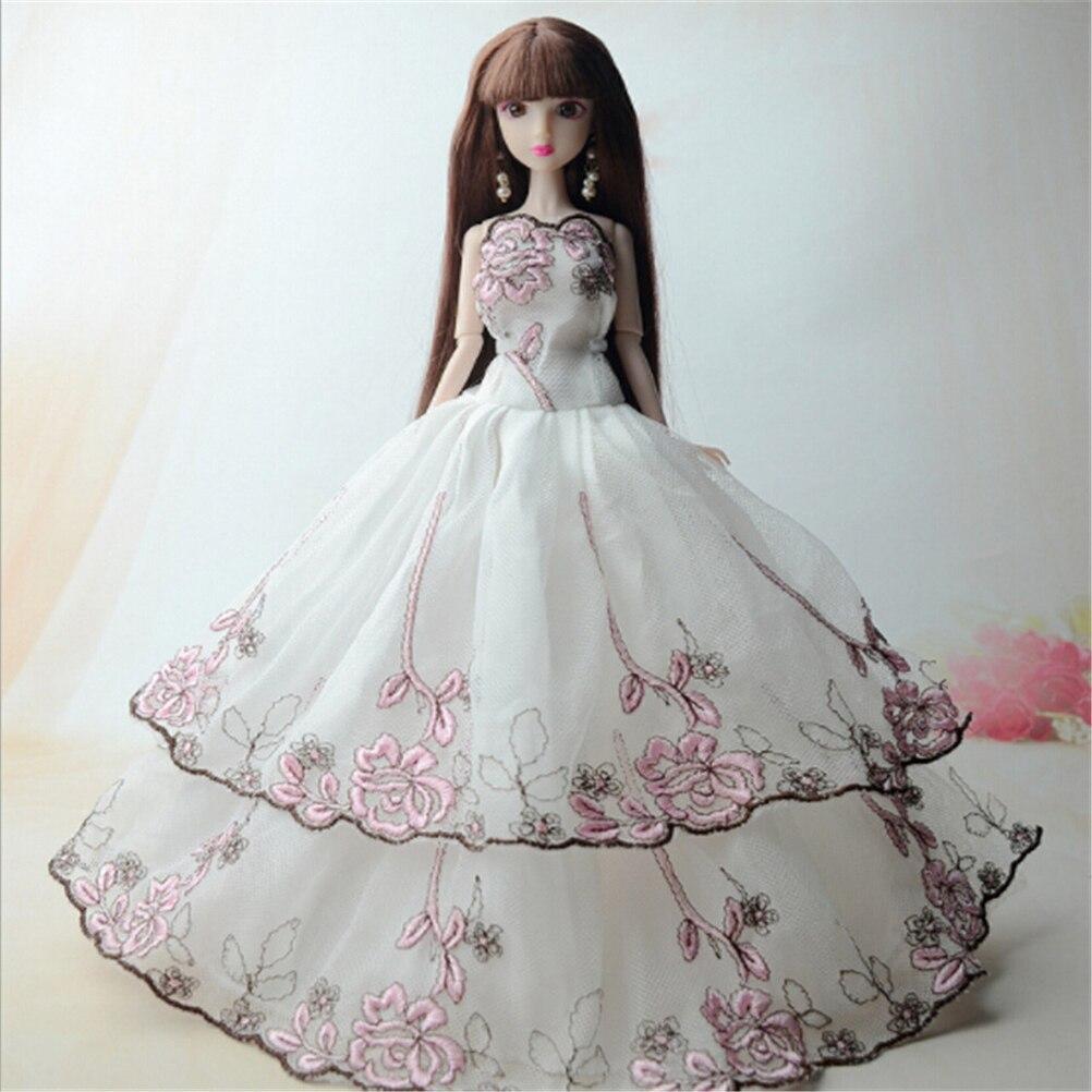 New  Dolls Dress Similar Fairy Tale Princess Snowwhite Cinderella Anna Wedding Dress For  Doll  Accessories 5 Pcs