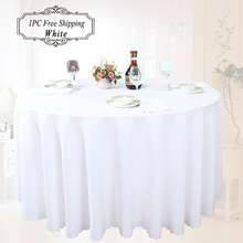 Wedding Outlet 100% Polyester Opaque White Tablecloth for Weddings Home Hotel Table Linen Cloth Cover Textile Decoration 15 size