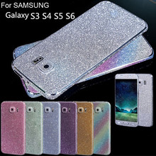 Full Body Glitter Crystal Diamond Full Body Wrap Decal Film Bling Sticker Protector For Samsung Galaxy S3 S4 S5  S6
