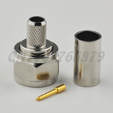 RF electrical wire terminal connector F Plug Crimp straight male connector for coaxial cable RG58 RG400 RG142 LMR195