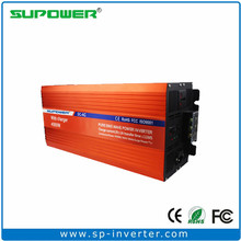 4000W LCD Display 12V 24V48V DC To 120V 220V AC UPS Inverter Pure Sine Wave Output With Built In Battery Charger