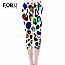 FORUDESIGNS Summer Leggings Leopard Zebra Floral Printed Fashion Women Sexy Slim Legins Stretchy Trousers High Waist Women Pants