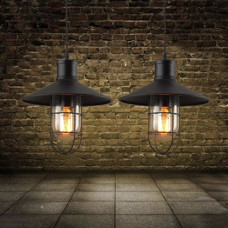 E27 vintage industrial pendant lamp nordic retro light lampshade loft lights living dining room Countryside edison lamps<br><br>Aliexpress