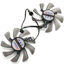 New 85MM Firstdo FD9015U12S DC 12V 0.55A 4PIN Vapor-X Dual Cooler Fan For Sapphire XFX Radeon HD7950 HD7970 Graphics Card Fans