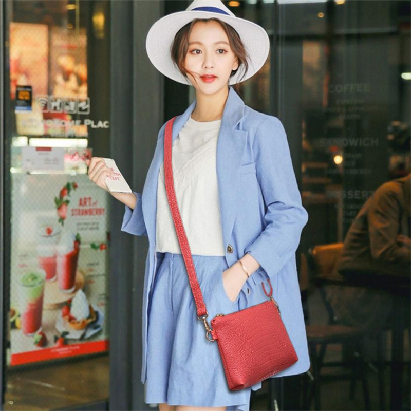 Messenger bag women's   Women Fashion Handbag Crocodile Pattern Shoulder Bag Small Tote Ladies Purse  O0514#302