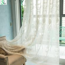 Slow Soul Pink White European Curtains Curtain Bedroom Living Room French Window Embroidered Europe For Tulle Kitchen And Sheer