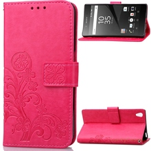 For Samsung Galaxy s3 Luxury Four Leaf Clover Embossing Flower Leather phone case For samsu insiemi di telefono mobile(China)