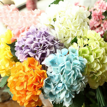 1 Small Bunch Artificial Hydrangea Silk Flower Decorative Simulation Flowers For Home Wedding Party Decor 10 Colors P40