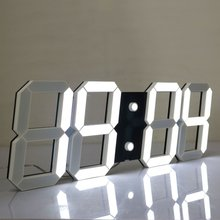 Outdoor indoor Led Digital Wall Clock with Date Temperature Remote Control 3D Cutout Countdown Timer Stopwatch Clock