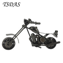 Luxury Mini Metal Model Motorcycles With Black Color Vintage Iron Motorbike Decoration Car Figurines