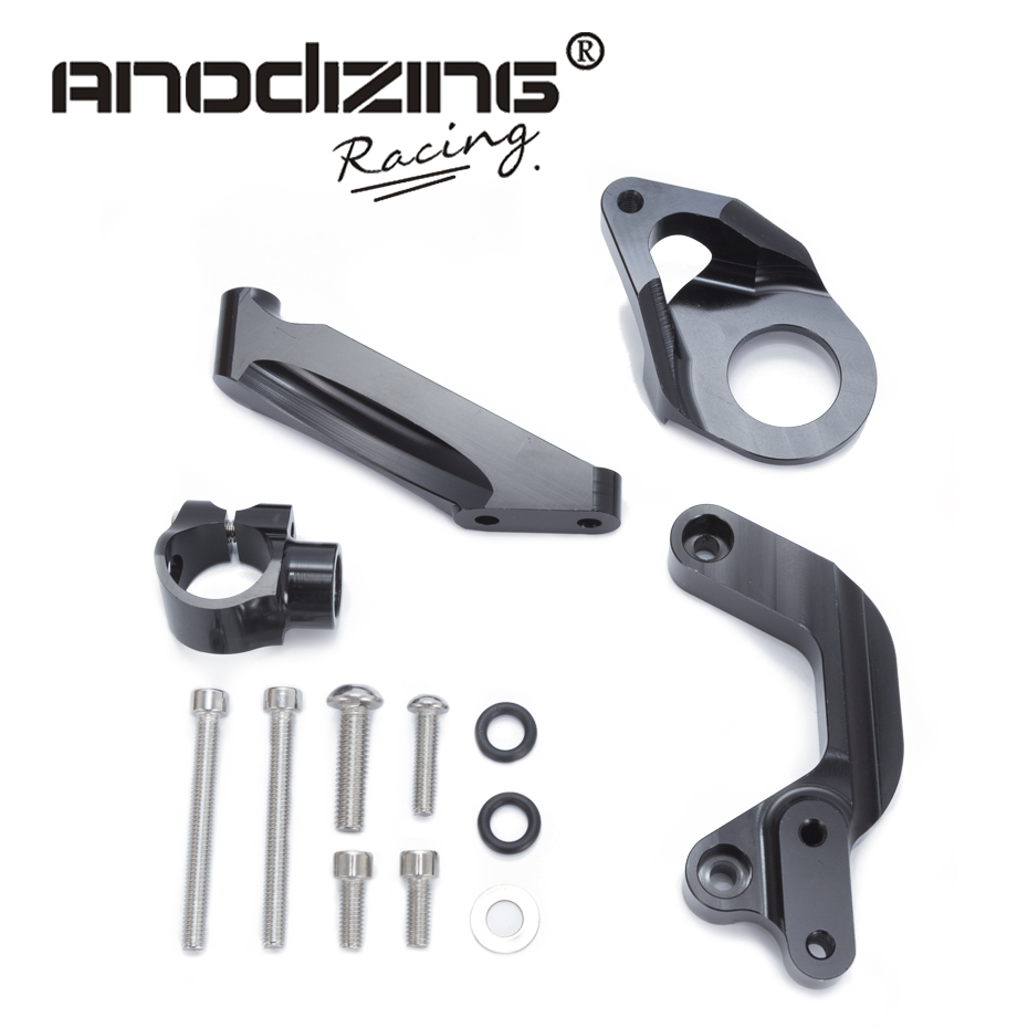 For SUZUKI GSXR1000 GSXR 1000 2009-2015 Motorcycles Adjustable Steering Stabilize Damper Bracket Mount Support Kit Accessories<br>