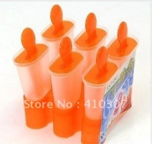 6 Blanks Ice Cream Box Tub Popsicle Tools DIY Ice Cream Mould Best Selling Your Helper Super New Arrival Freeshipping 200 sets(China)