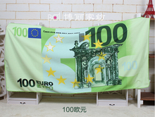 Manufacturers selling printed beach towel ,The euro dollar Russian bear Bath Towel   Microfiber towels